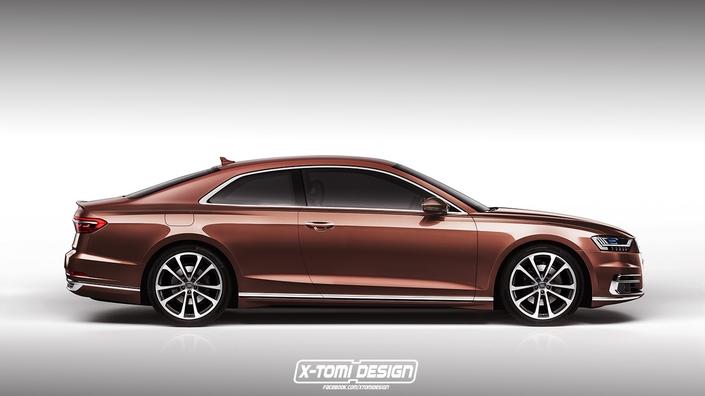 Design : l'Audi A8 imaginée en coupé