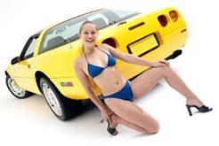 Jenny en Corvette