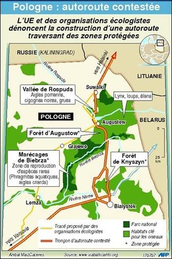 Suite : la Commission européenne demande à la justice d'empêcher les travaux de l'autoroute polonaise