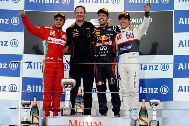 F1 GP du Japon : Sébastien Vettel, irrésistible, rejoint Alonso