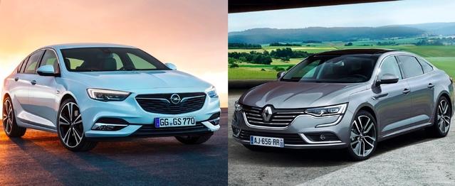 Match de 2017 - Nouvelle Opel Insignia vs Renault Talisman