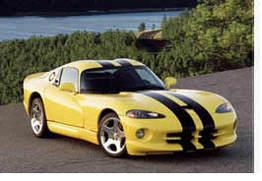 Jen en Dodge Viper GTS