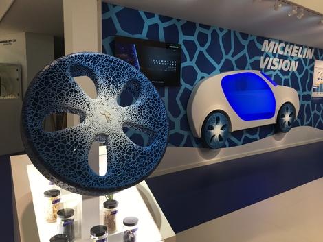 L'avenir du pneu selon Michelin passe par l'impression 3D.