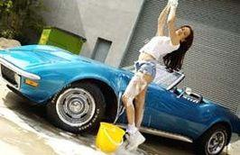 Ashlie : elle lave la voiture de son mari