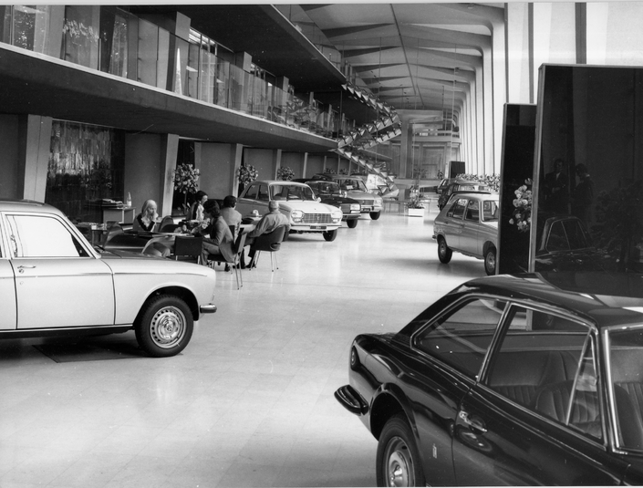 1973 - Le hall du 75 avenue de la Grande Armée à Paris