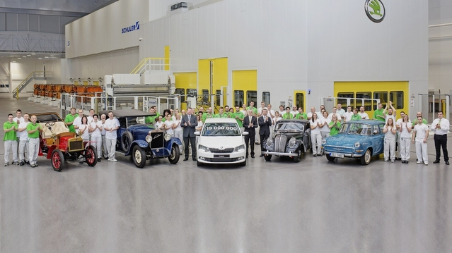Skoda fête sa 20 millionième voiture produite