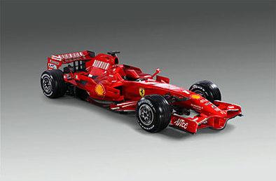 Formule 1 - Ferrari: Comparez la F2007 et la F2008, en statique et sur la piste