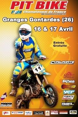 Pit Bike 2011: Granges Gontardes les 16 et 17 avril.