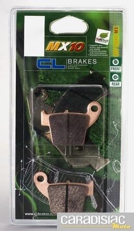 CL Brakes fait évoluer ses plaquettes pour le cross avec les MX 10.