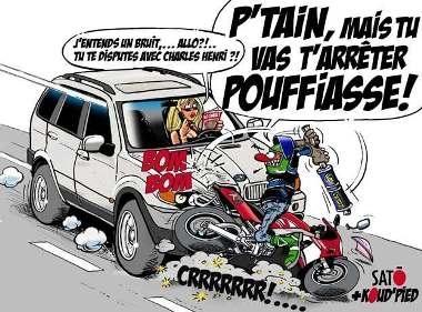 La diabolisation du motard jusqu'au journal télévisé