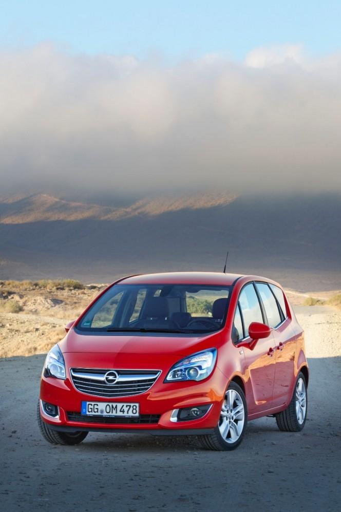 Le nouvel Opel Meriva restylé évolue en 2014