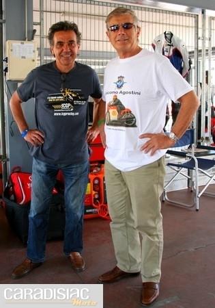 Eric Saul et Giacomo Agostini