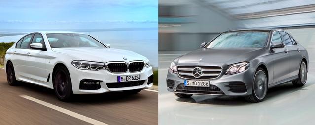 Match de 2017 - Nouvelle BMW Série 5 vs Mercedes Classe E