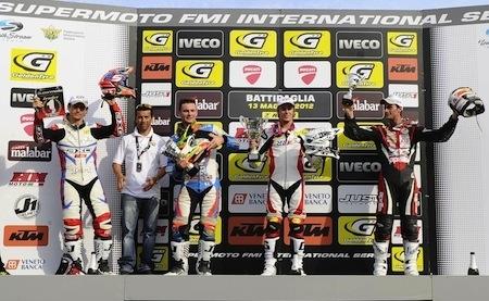 Supermotard, championnat international d'Italie 2012, round 2: Hermunen réalise le week-end parfait!