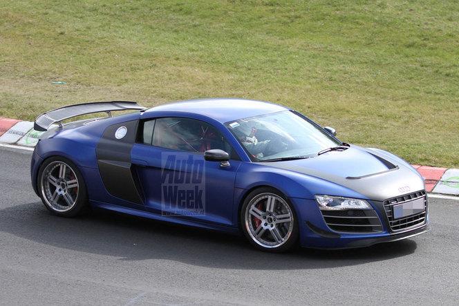 Une mystérieuse Audi R8 surprise...