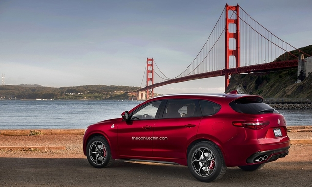 Design : le SUV Alfa Romeo Stelvio imaginé en version 7 places