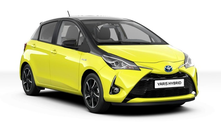 toyota yaris collection maintenant en jaune et noir. Black Bedroom Furniture Sets. Home Design Ideas