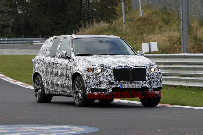 Surprise vidéo : le futur BMW X5M sur le Ring