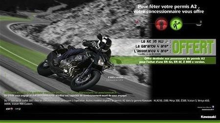 Kawasaki, le kit A2 pour 1 euro de plus