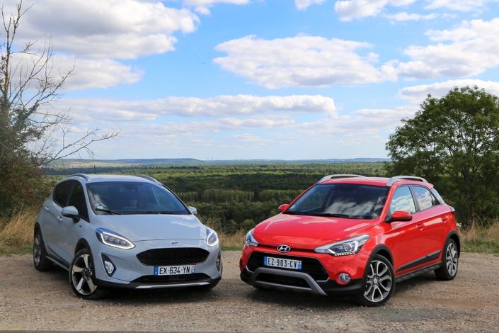 Comparatif - Ford Fiesta Active VS Hyundai i20 Active : belles des champs