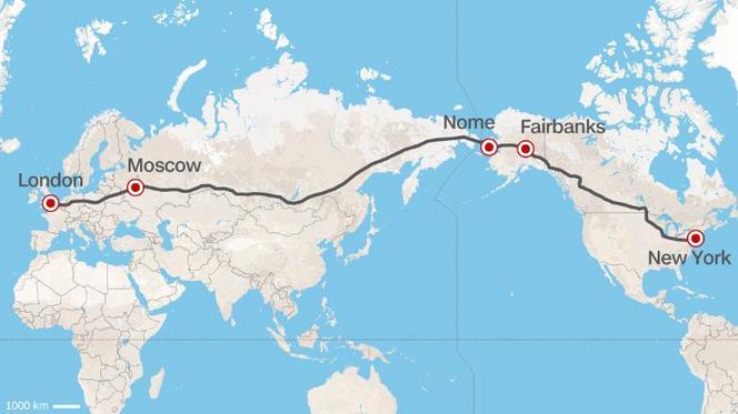 Une autoroute entre Londres et New-York en projet