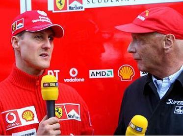 Formule 1: Quand Niki et Bernie parlent de Schumi