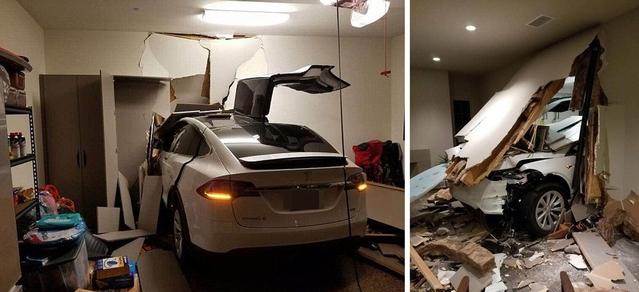 Il pulvérise son SUV Tesla Model X dans son salon