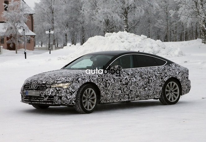 Surprise : future Audi A7 restylée