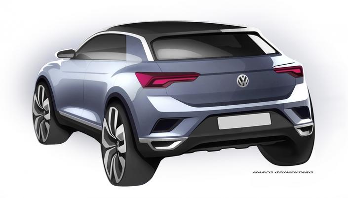 Volkswagen T-Roc: les premiers dessins