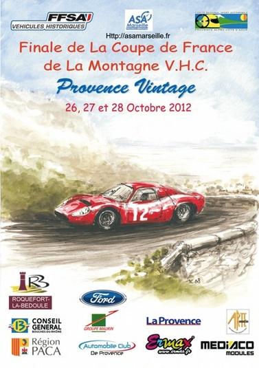 Agenda - 27 et 28 Octobre : 6eme Provence Vintage, les meilleurs véhicules historiques en course de côte