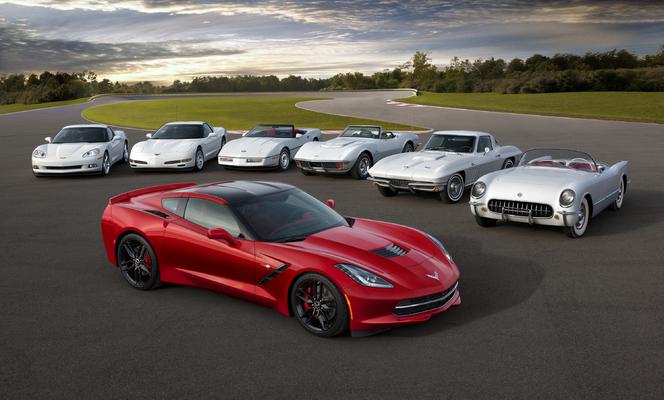 La famille Chevrolet Corvette présente au Grand Prix d'Amérique