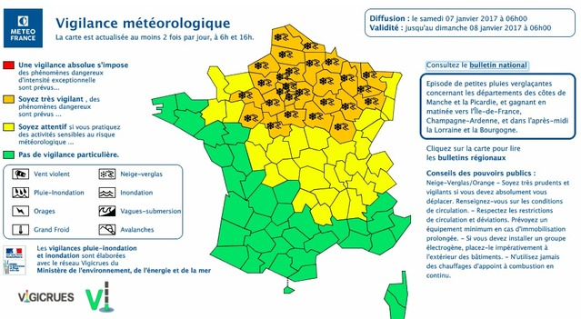 Neige et verglas : 30 départements en vigilance orange