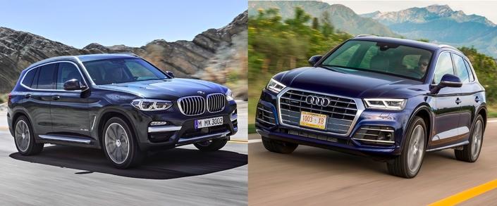 Premier match: Nouveau BMW X3 vs Audi Q5