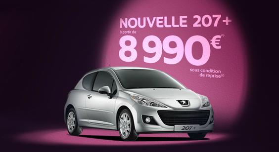 Nouvelle Peugeot 207+: à partir de 8990 euros