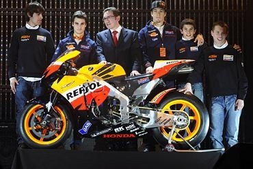 Moto GP: Repsol présente ses troupes à Saragosse