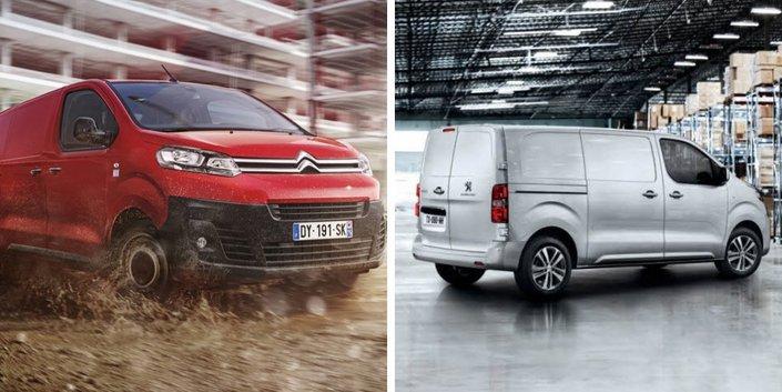 Les utilitaires Peugeot Expert et Citroën Jumpy bientôt proposés en électrique