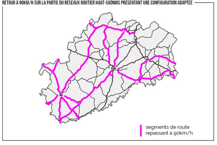 La Haute-Saône revient aux 90km/h