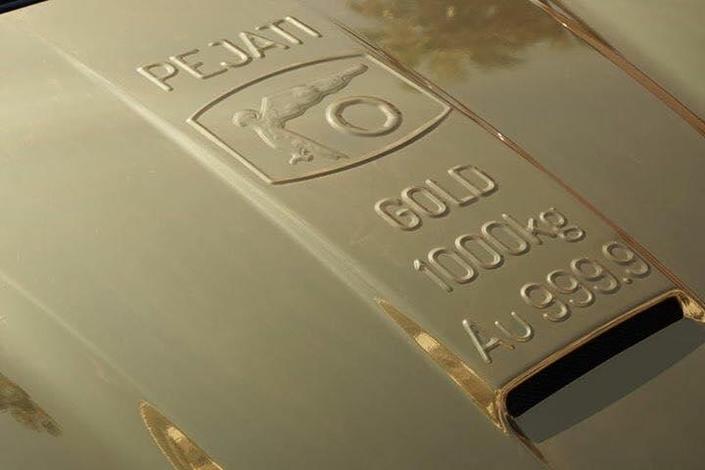 Avec la Ferrari en or on en a pour son argent