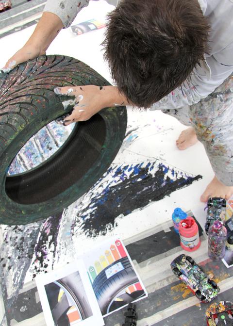 Goodyear s'associe à la création d'une œuvre d'art...
