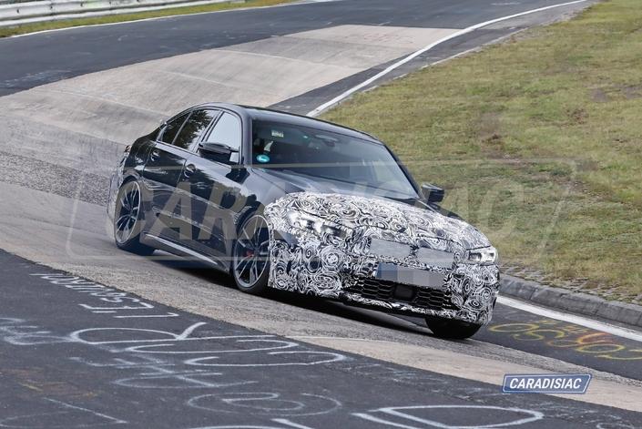 Scoop - La BMW Série 3 restyléeen test sur le Nürburgring