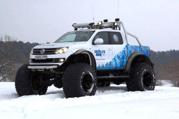 VW fournisseur exclusif des Jeux Olympiques de Sotchi avec des Amarock très spéciaux