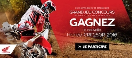 Motoblouz te fait gagner une Honda CR-F250R millésime 2016!