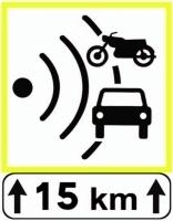"""Voici le panneau qui indiquera les itinéraires """"leurres"""". Il indique leur longueur totale, ici 15km."""