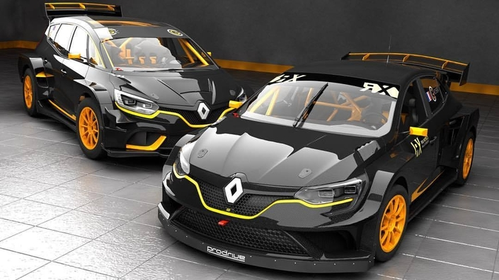 Un Renault Scénic en rallycross, pour le plaisir des passagers