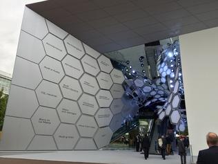 La majestueuse entrée du bâtiment Audi en 2015.