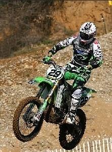 Mx 1 Valence - 2nd place de Pourcel avec Kawasaki