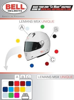 """Bell fait un M5X """"Le Mans"""" à vos couleurs..."""