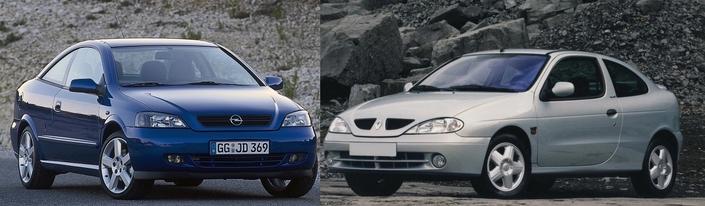 Opel Astra Coupé 2.2 vs Renault Coupé IDE: duel de populaires élégantes, dès 2500€