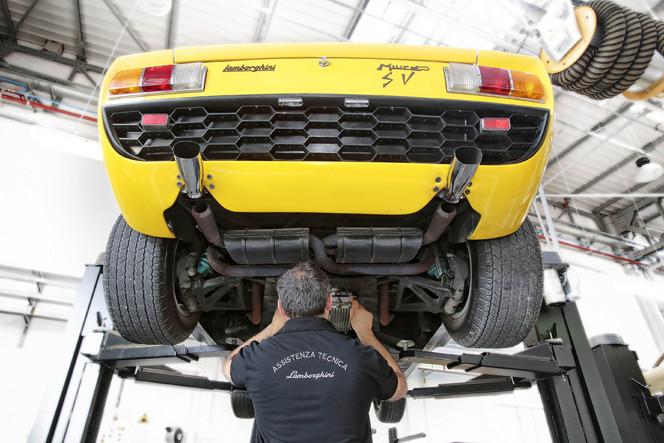 Lamborghini rouvre son centre de restauration