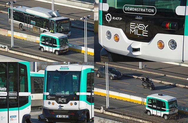 La RATP teste des minibus sans chauffeur à Paris